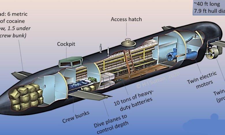 111 3 780x470 - زیردریایی های پیشرفته و الکتریکی کارتل های مواد مخدر برای قاچاق کوکایین