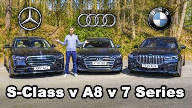 Mercedes S Class v BMW 7 Series v Audi a8 390x220 - رقابت مرسدس S کلاس، بامو سری 7 و آئودی A8