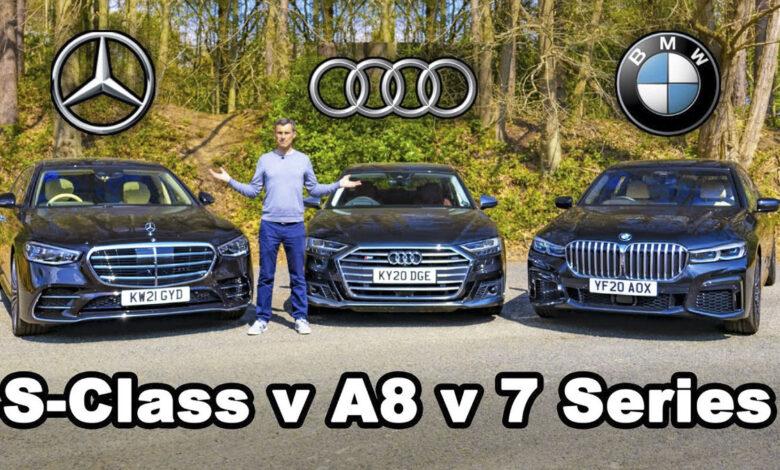 Mercedes S Class v BMW 7 Series v Audi a8 780x470 - رقابت مرسدس S کلاس، بامو سری 7 و آئودی A8
