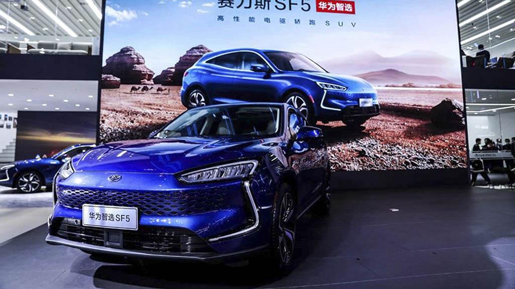 huawei seres sf5 exterior - هواوی به دنبال خرید خودروسازی چینی!