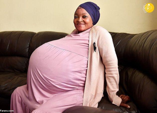 46196 190 - زن آفریقایی ۱۰ قلو باردار شد
