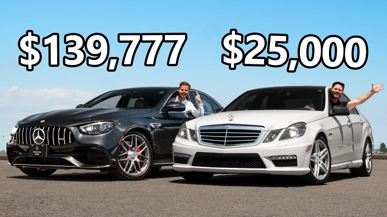Mercedes AMG E63 - مقایسه نسل جدید و قدیم مرسدس-ایامجی E63 با اختلاف قیمت 95 هزار دلاری!