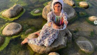 aras.ir الناز شاکردوست 5 390x220 - عکس تولد الناز شاکر دوست در کنار دریای خزر