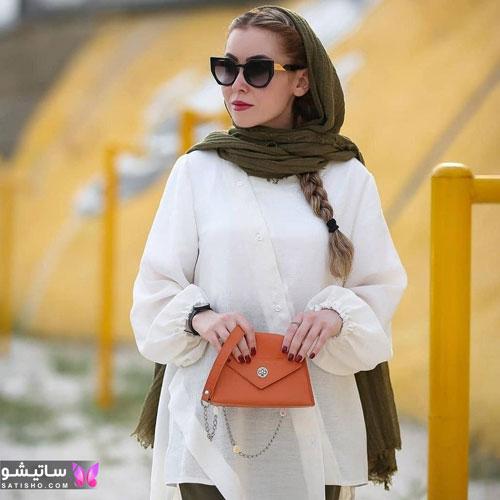 manto sefid satisho 14 - مدل مانتو سفید در طرح های اسپرت تابستانی و مجلسی زنانه 1400