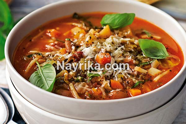 .jpg - سوپ مرغ: طرز تهیه سوپ مرغ مجلسی با جو پرک، ورمیشل / سوپ مرغ سرماخوردگی
